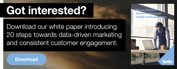 Download our white paper introducing 20 steps towards data-driven marketing and consistent customer engagement